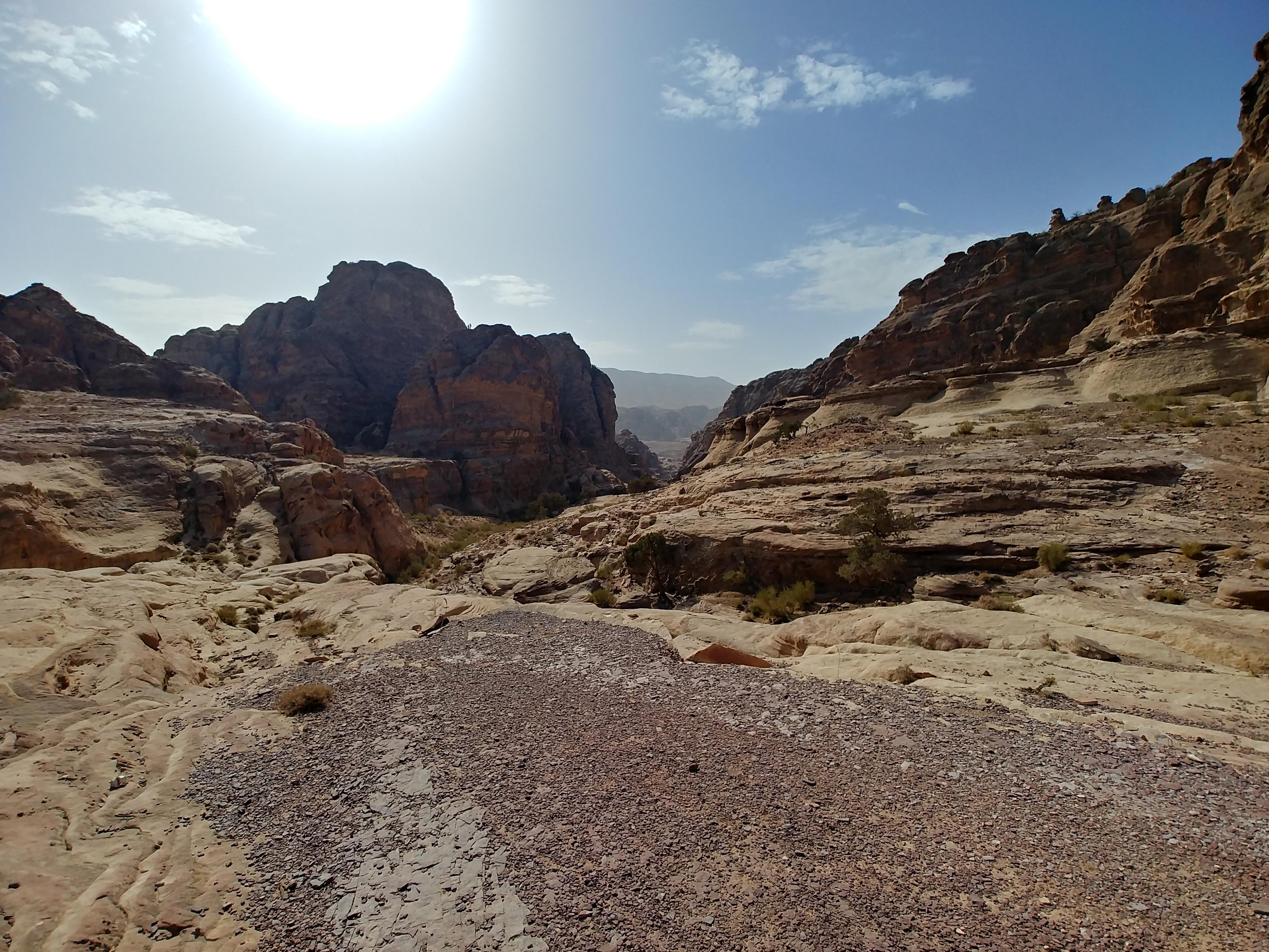 Le désert de Pétra